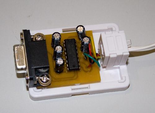 Адаптер собран в обычной телефонной розетке с распайкой под любой телефонный кабель.  К компьютеру подключается без...