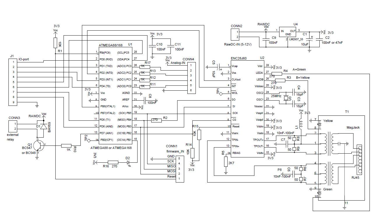 Ethernet-контроллер 10 Mbit на DS80C320 и CS8900.  Схема, про, free hamradio yaesu icom kenwood vertex alinco...