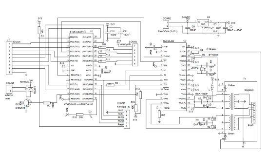 AVR Ethernet Схема